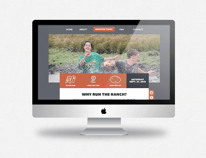 The Run the Ranch Mud Run website